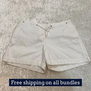 J Crew Low Rise White Shorts Size 6